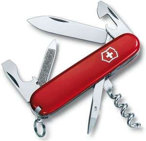 Victorinox Sportsman with keyring Multi Tool - Red, Medium/50 mm now £12.08 (Prime) + £4.49 (non Prime) at Amazon