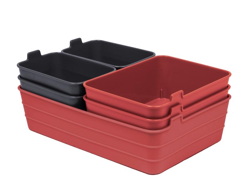 Homebase - Set of 7 Flex Mini Trays - Coral & Grey - Free C&C £3