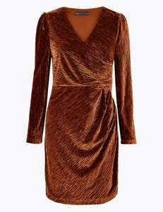 Velvet Bodycon Mini Dress - £5.69 @ Marks and Spencer (Free Click & Collect)