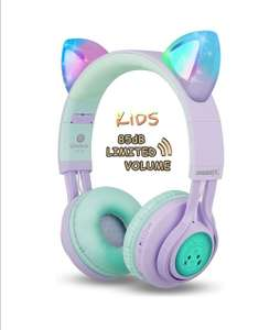 Riwbox CT-7S Cat Ear Bluetooth Volume Limiting LED Wireless Headphones with Microphone £13.02 / £17.51 nonPrime Sold by Vinpak & FBA