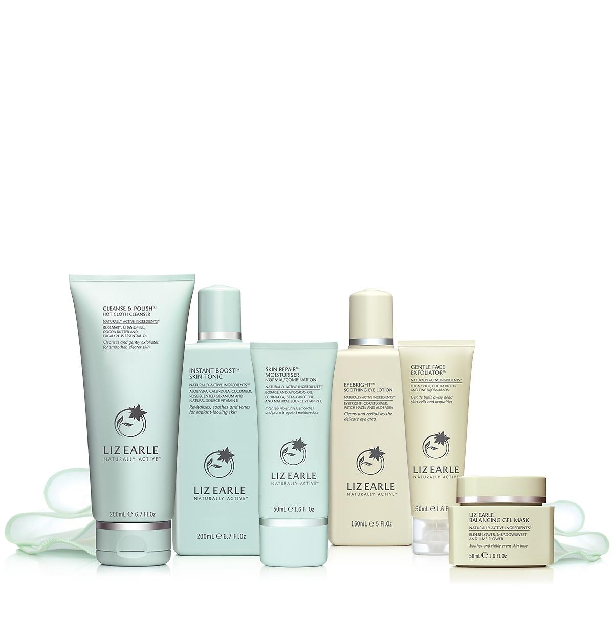 15% Off + FREE Cleanse, tone & moisturise travel size set @ Liz Earle e.g Daily Routine Set £41.65 + Free Gifts worth £47 + Free Travel Set