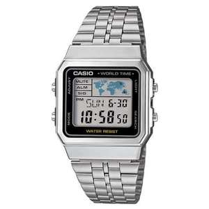 Casio Collection Stainless Steel Digital LCD Watch A500WEA-1EF now £21.99 delivered at 7DayShop