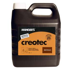 Mangers Creotec - Exterior Wood Preserver - Dark / Light Brown - 4L for £3.03 @ Homebase (Free click and collect)