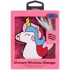 Byte Wireless unicorn charger £2, Llama power bank 10p, sequins tablet case £1 B&M