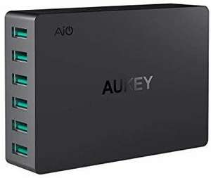 Aukey USB Wall Charger 6 Ports 60W with AiPower Tech for £14.99 Delivered - Sold by Fance and Fulfilled by Amazon.