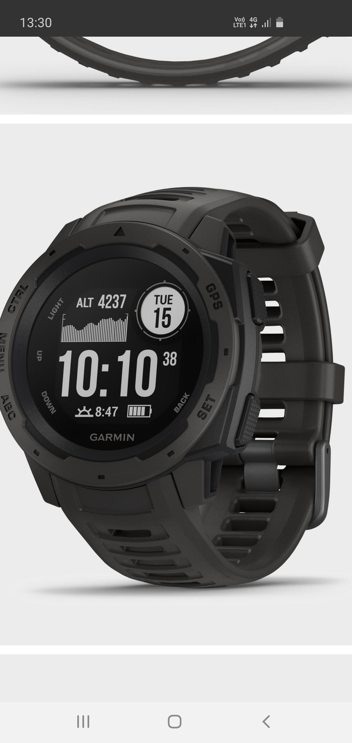 Garmin Instinct GPS Watch £189 @ Blacks