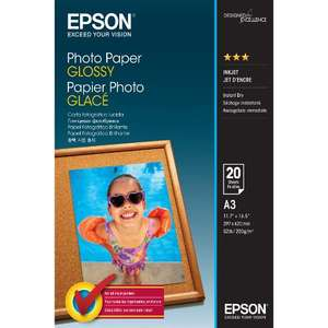 Epson Photo Paper Glossy A3 20 Sheet £2.97 at Jessops