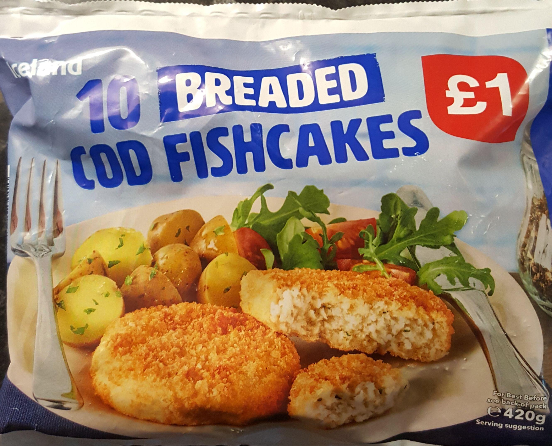10 Iceland Cod Fishcakes Scanning at 50p at Iceland London