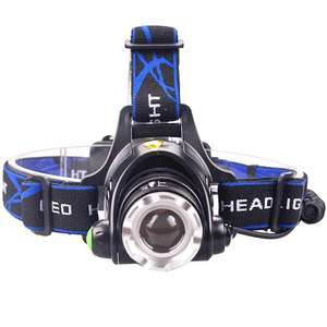 LED Headlamp Fishing Headlight V6 3 Modes Zoomable Waterproof £4.46 using code @ AliExpress Deals / shustar Official Store