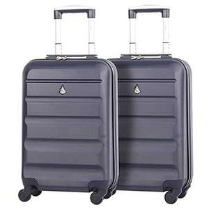 2 X Aerolite Hard Shell Cabin Cases £44 or buy 1 for £25.52 & Free Delivery Various Colours at Packed Direct