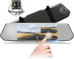 Mirror Dash Cam 1080P Dual Lens 7 Inch IPS Touch Screen, Dash Cam - £35.08 Sold by Tomato Direct and Fulfilled by Amazon