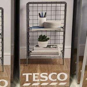 Wire Storage Unit 2 tiered reduced to £8.50 instore Tesco Mansfield
