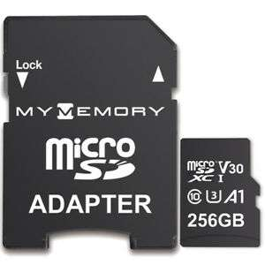 MyMemory 256GB V30 PRO Micro SDXC TF Memory Card A1 UHS-1 U3 + Adapter - 100MB/s £23.90 @ ebay / mymemory-uk