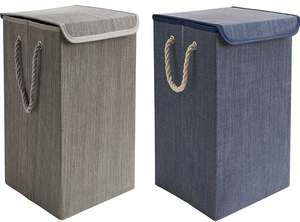 Navy or Grey Collapsible Laundry Basket - £5 + Free Click & Collect @ Dunelm