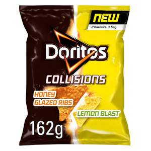 Doritos Collisions Honey Glazed Ribs & Lemon Blast Corn Chips 162g - 39p in-store @ Heron Foods Bury