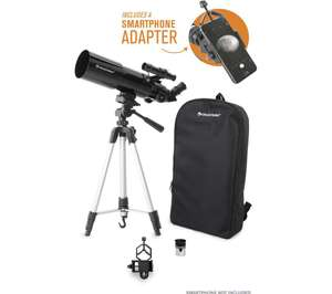 CELESTRON Travelscope Refractor Telescope, tripod, smartphone adaptor and backpack - £49 at Currys PC World