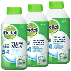 Dettol 5 In 1 Washing Machine Cleaner 3 x 250ml - £5.26 instore @ Costco