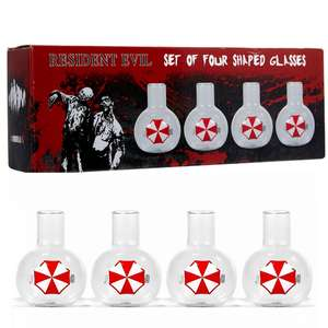 Resident Evil Half Moon Bay 4 Shaped Glasses Set 22x6cm £4.99 Click & Collect @ TKMaxx