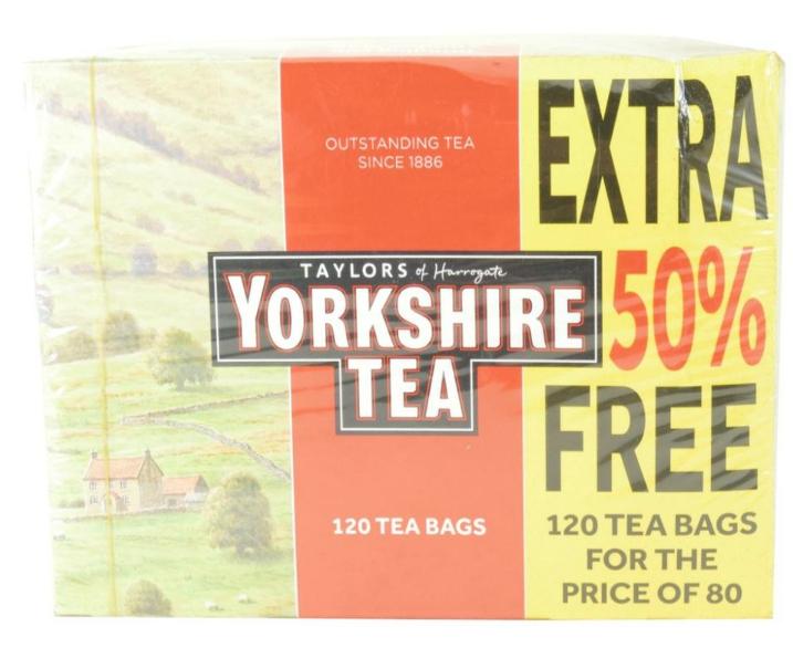 Yorkshire tea 120 tea bags for price of 80 £2.50 Newport Tesco express