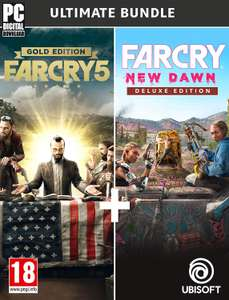 Far Cry New Dawn Deluxe Edition + Far Cry 5 Gold Edition Ultimate Bundle (PC / Uplay) £20 @ Amazon