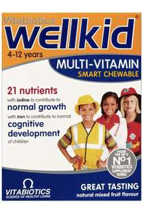 Wellkid Supplements 3 for 2 £8.98 prime / £13.47 non prime @ Amazon