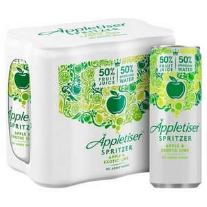 Appletiser Spritzer Apple & Exotic Lime 6 x 250ml - £1 @ Heron Foods (Darlington)