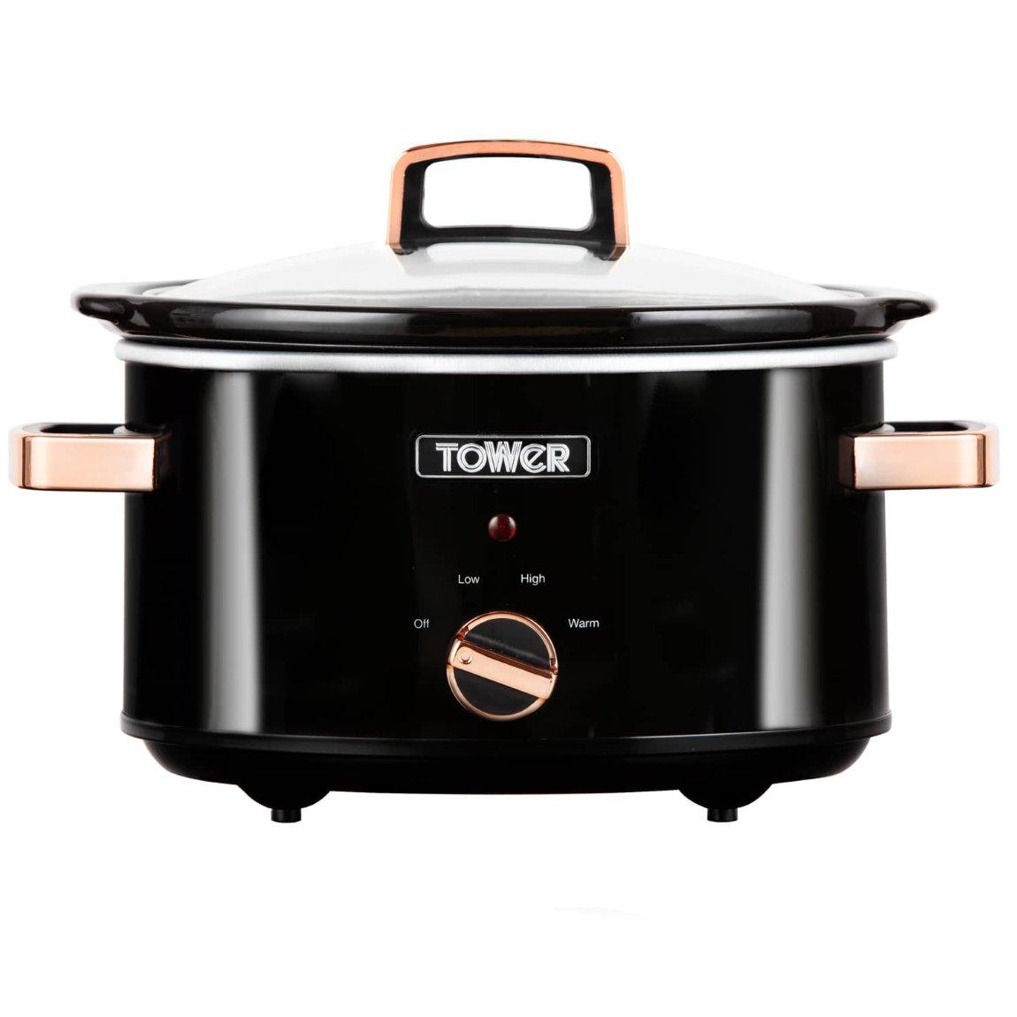 Tower 3.5L Slow Cooker - Black & Rose Gold £18 @ B&M BARGAINS ( SWINTON )