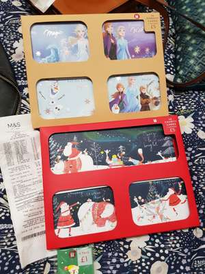 All Christmas cards, wrapping, tags, 2020 calendars are 20p each at Westfield M&S
