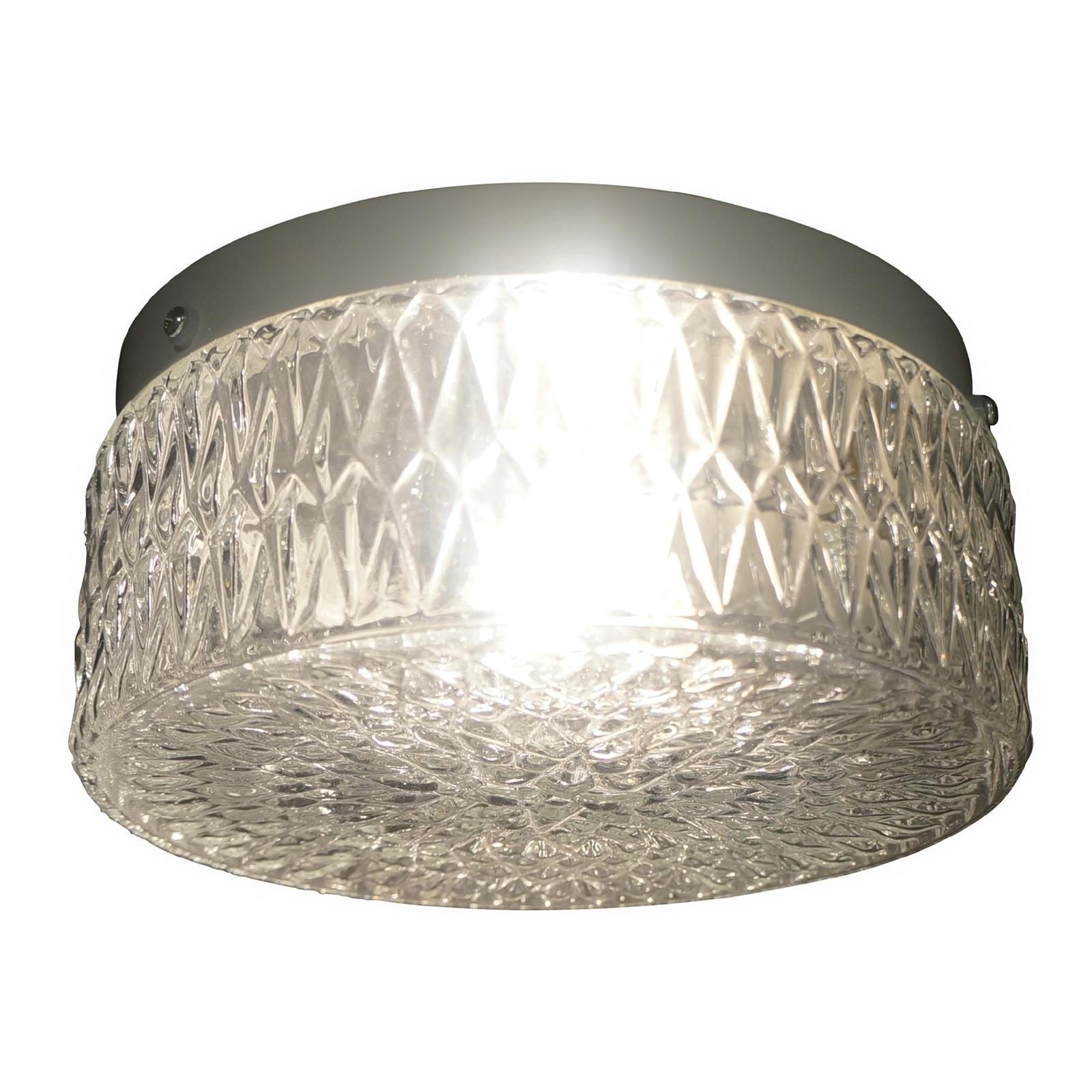 Oceanus Glass Bathroom Light £3.02 @ Homebase