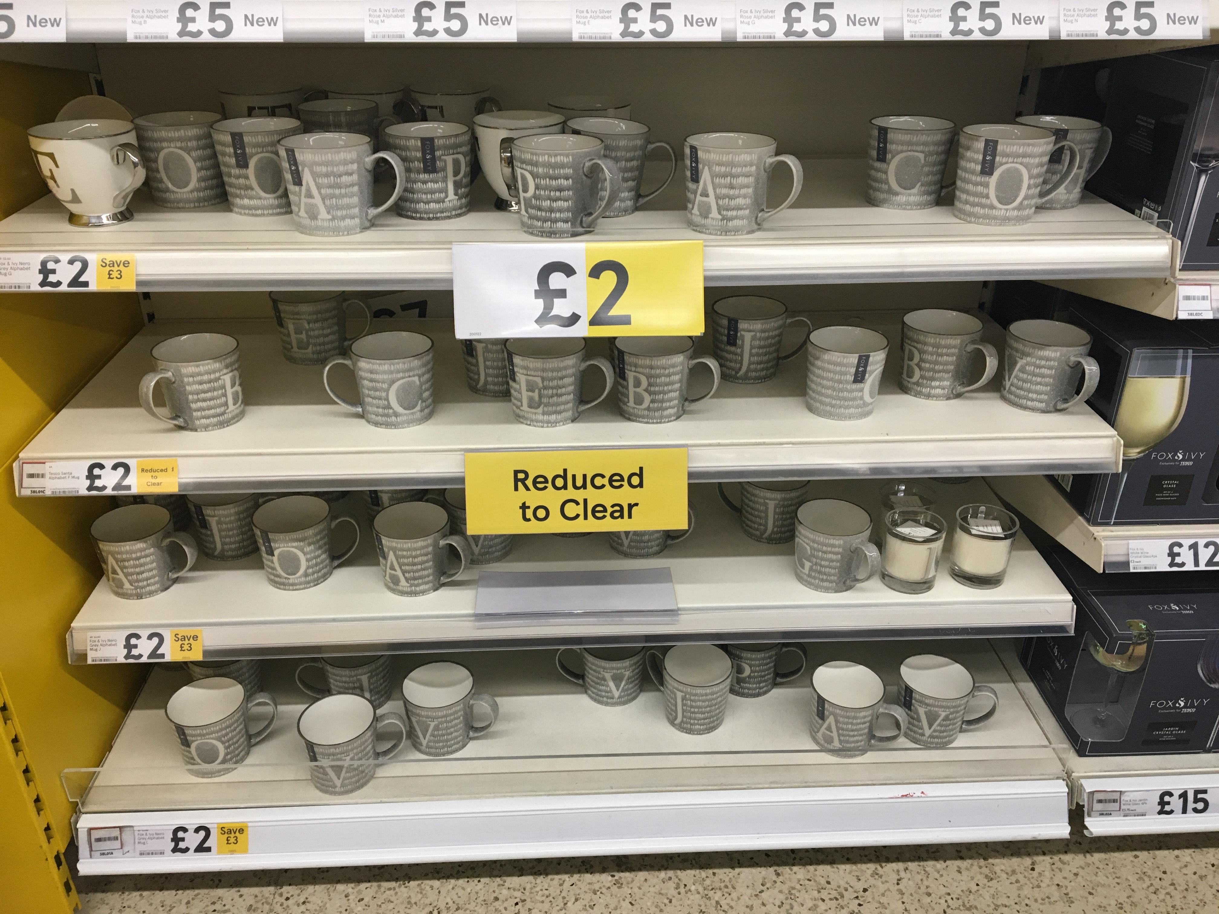 Tesco Alphabet Mug £2 instore