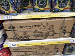 Battery operated Range Rover ride on £45 instore @ Tesco Hartlepool