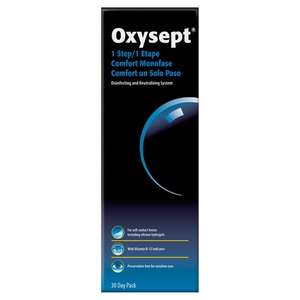 Oxysept 1 Step Contact Lenses Disinfecting Solution 30 Days 80p at Superdrug (Brighouse)