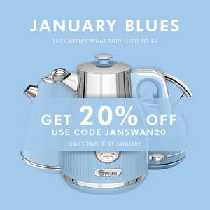 20% off Swan products until 31st January