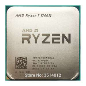 AMD Ryzen 7 1700X R7 1700X 3.4 GHz Eight-Core CPU Processor YD170XBCM88AE Socket AM4 £96.80 @ AliExpress BY168 Store