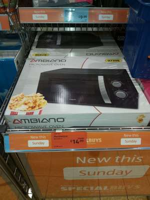 Microwave, Ambiano 97398 700W, 1.7L. Reduced to £14.99 instore @ Aldi (Anerley)