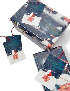 75% off Christmas cards & wrapping paper eg Santa Jumbo Wrapping Paper 14m & 12 Gift Tags was £8 now £2 @ Marks & Spencer online + Free C&C