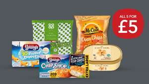 Freezer Fillers 5 for £5 meal deal (Includes Dippers/Fish Cakes/ Oven Chips/ Garden Peas/ Carte d'or IceCream) @ CoOp