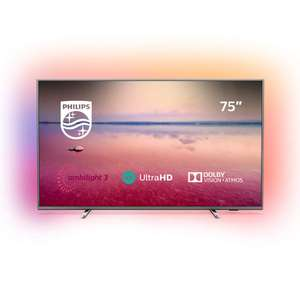 Philips 75PUS6754/12 75-Inch 4K UHD Smart TV with Ambilight, HDR 10+ £900 Amazon
