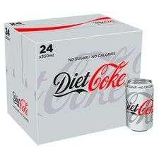 Diet coke/Coke zero 24 x 330ml cans £6.50 @ tesco