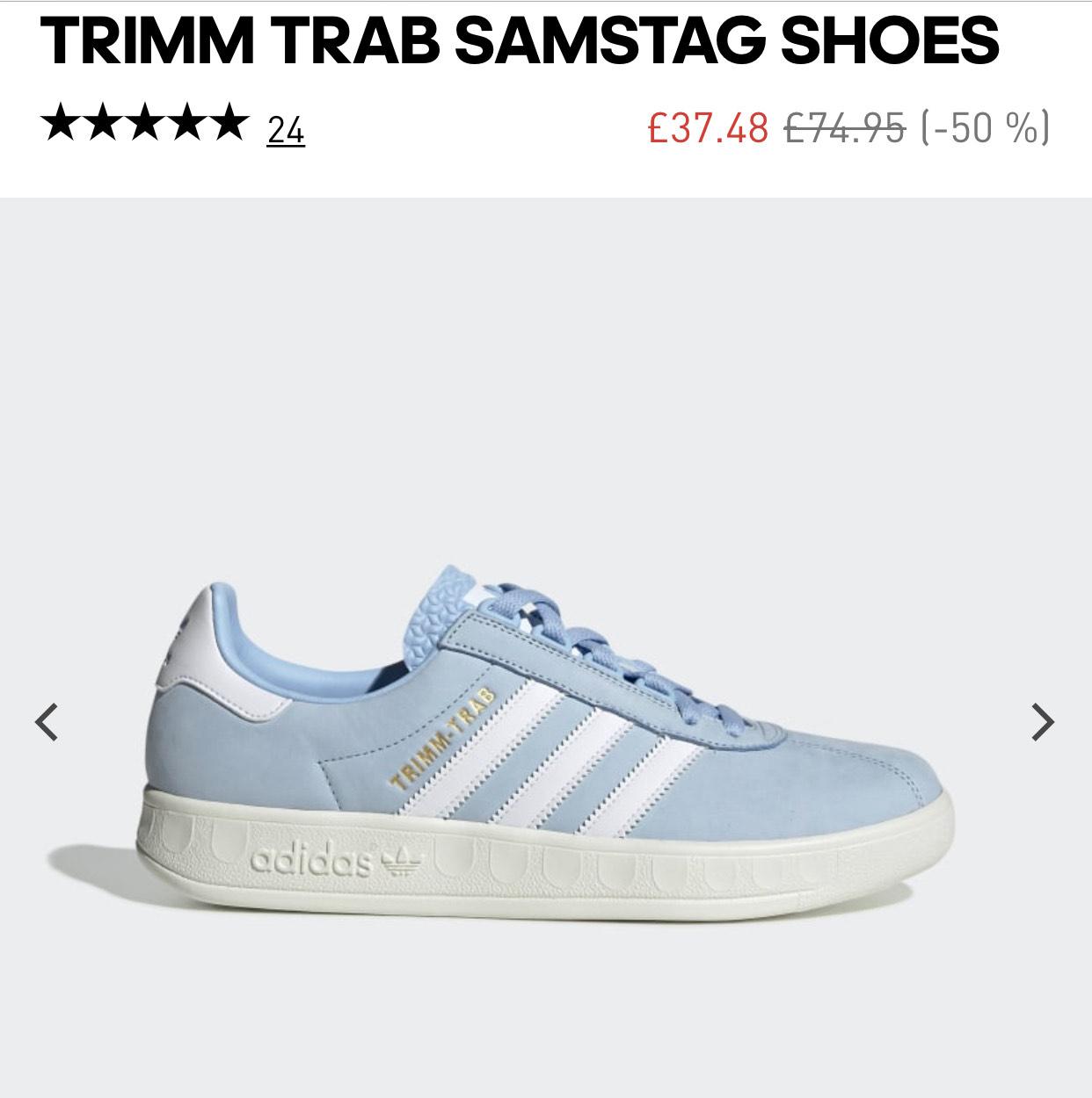 Adidas Trimm Trab samstag uk7.5-13 £33.97 @ adidas
