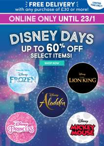Disney Days Sale - half price bears plus free delivery on a £30 spend @ Build a Bear