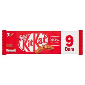 Kit kat 2 finger 9 pack milk chocolate/dark chocolate/orange/dark mint £1 @ morrisons