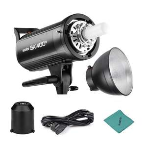 Godox SK400 ii Professional Compact 400Ws Studio Flash Strobe lighting deal £99.45 Sold by Fivepoint and Fulfilled by Amazon