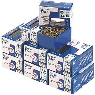 SCREW-TITE Trade Pack 1200 PCS £24.99 @ Screwfix