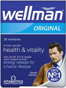 3 x Wellman Vitabiotics Original £7 Prime / £11.49 Non Prime (Subscribe and Save - £5.42 for 3 with 15% off or £6.47 with 5%)