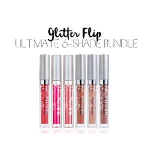 Press, Pop & Pout 6 shade Bundle Glitter Flip Gift Set £24.95 with code at Ciate