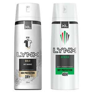 Lynx Men Anti-Perspirant Deodorant Spray 200ml - Africa or Gold, 12 pack £12.99 at avantgardebrands eBay