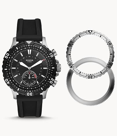 Hybrid Smartwatch Garrett Black Silicone £89 at Fossil