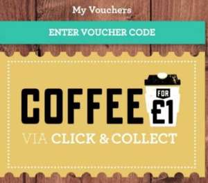 Any coffee £1 with click and collect (via app) @ Friska