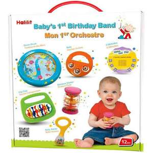 Halilit Baby's First Birthday Band Musical Instrument Gift Set £11.25 (Prime) / £15.74 (non Prime) at Amazon